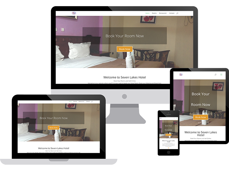 website design for seven lakes hotel