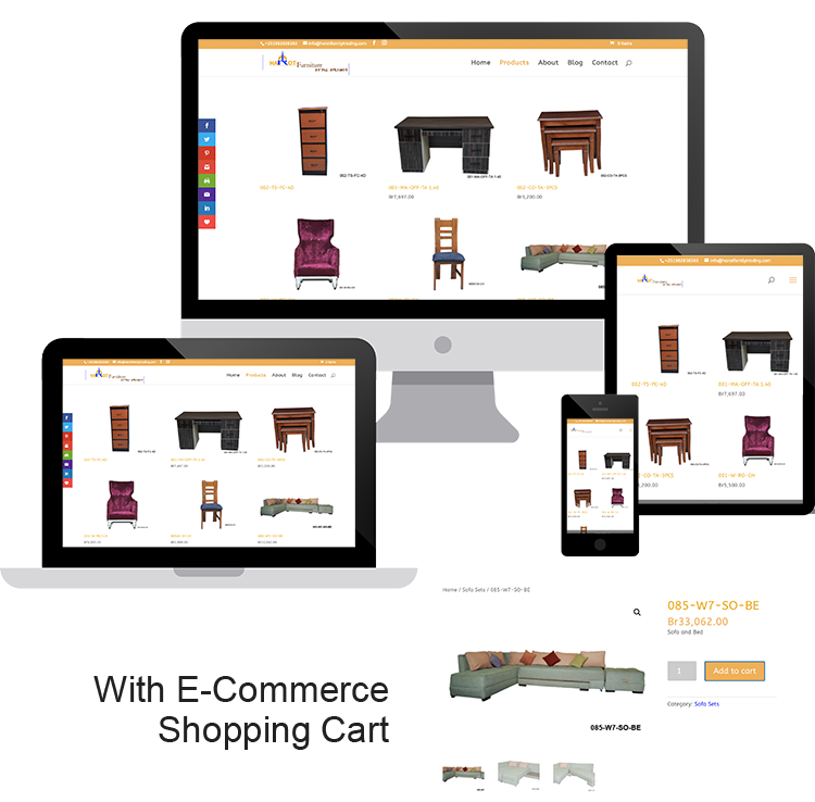 Harot Furniture Tibeb E-Commerce website