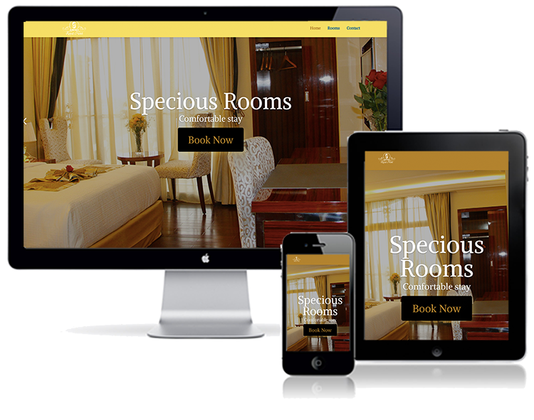 Golden royal Hotel website