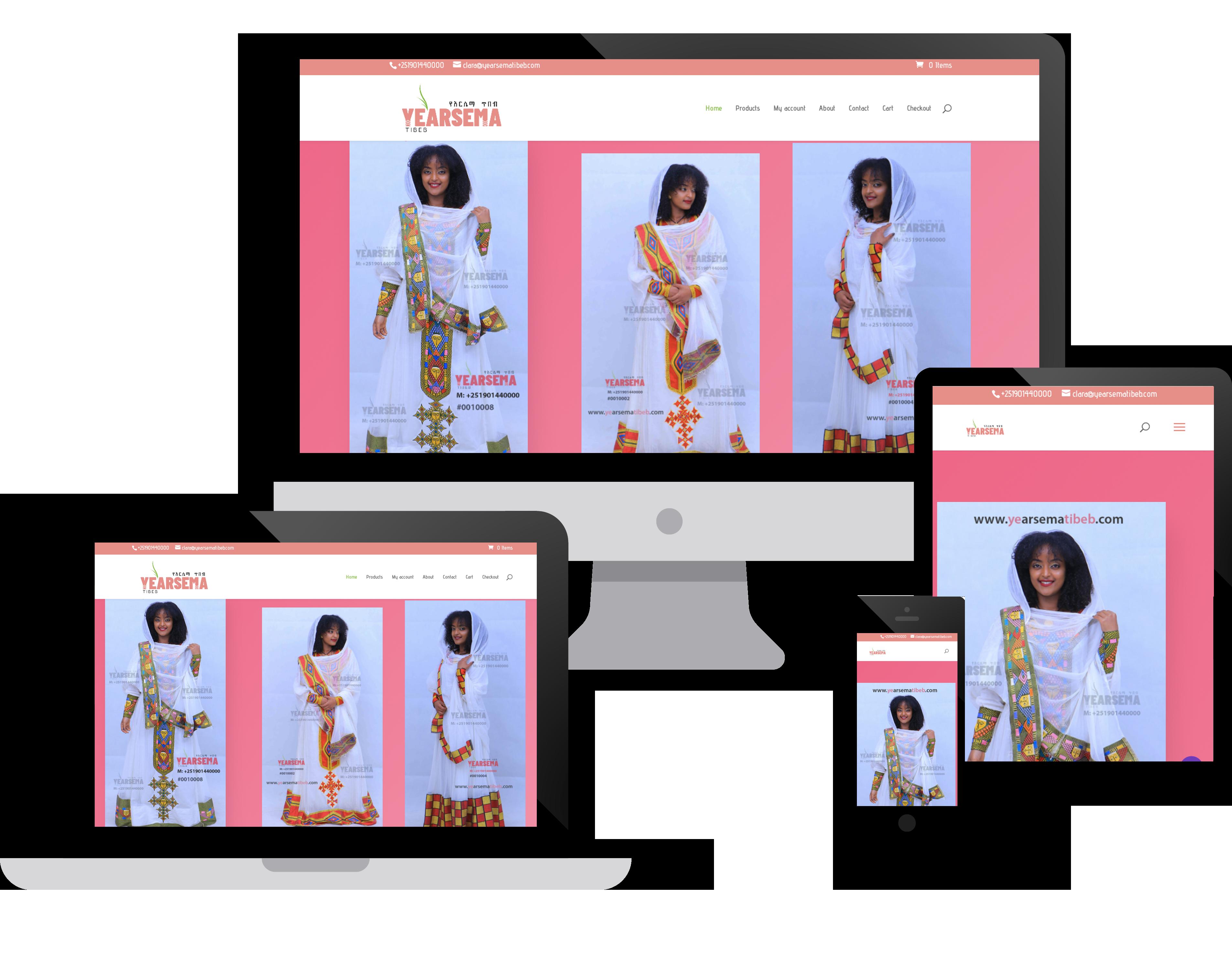 Ye'Arsema Tibeb Website